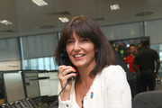 Davina McCall making a trade at BGC Annual Global Charity Day at Canary Wharf on September 12, 2016 in London, England.