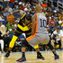 Stephen Jackson Photos - Stephen Jackson #5 of the Killer 3s drives to the basket against Keith Bogans #10 of 3's Company during week eight of the BIG3 three on three basketball league at Infinite Energy Arena on August 10, 2018 in Duluth, Georgia. - BIG3 - Week Eight