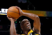 Chauncey Billups #1 of the Killer 3s shoots the ball during the game against 3's Company during week seven of the BIG3 three on three basketball league at Rupp Arena on August 6, 2017 in Lexington, Kentucky.