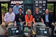 """Producer Mark Bright (standing) BMI's Bradley Collins, Chris Destefano (ASCAP), Co-Writers Carrie Underwood (BMI), Co-writer, Ashley Gorley (ASCAP), BMI's Jody Williams during the BMI/ASCAP # 1 party for """"GOOD GIRL"""" performed by Carrie Underwood, at the CMA offices on August 28, 2012 in Nashville, Tennessee."""