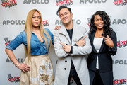 (L-R) Faith Evans with RedOne and Catherine Brewton during BMI's How I Wrote That Song 2018 on January 27, 2018 in New York City.