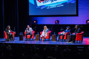 (L-R) Modertor Catherine Brewton with RedOne, Faith Evans, Tory Lanez and Mark Batson discuss the creative process during BMI's How I Wrote That Song 2018 on January 27, 2018 in New York City.