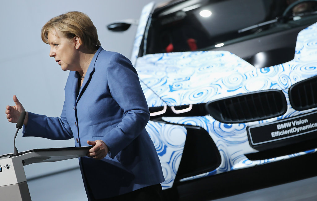 angela merkel pictures bmw to produce electric cars in leipzig zimbio. Black Bedroom Furniture Sets. Home Design Ideas