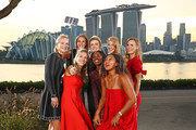 The 2018 BNP Paribas WTA Finals Singapore presented by SC Global returns to Singapore for the fifth consecutive year with the top women competing for $7 million in prize money from October 21 to October 28. This year's singles field pose at Bay East Garden.  Left to Right: Kiki Bertens of the Netherlands, Karolina Pliskova of the Czech Republic, lina Svitolina of the Ukraine, Petra Kvitova of the Czech Republic, Caroline Wozniacki of Denmark, Angelique Kerber of Germany, Sloane Stephens of the United States and Naomi Osaka of Japan,  on October 19, 2018 in Singapore.
