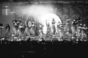 Image has been converted to black and white) Jade Thirlwall, Leigh-Anne Pinnock, Perrie Edwards and Jesy Nelson of Little Mix perform during The BRIT Awards 2019 held at The O2 Arena on February 20, 2019 in London, England.
