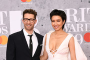 Matthew Morrison and Renee Puente attends The BRIT Awards 2019 held at The O2 Arena on February 20, 2019 in London, England.