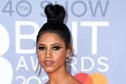 (EDITORIAL USE ONLY) Vick Hope attends The BRIT Awards 2020 at The O2 Arena on February 18, 2020 in London, England.