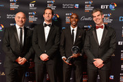 Sir Ben Ainslie and Sir Mo Farah pose for a photo after Mo Farah received his Coutts Outstanding Contribution to Sports Award during the BT Sport Industry Awards 2018 at Battersea Evolution on April 26, 2018 in London, England. The BT Sport Industry Awards is the largest commercial sports awards in the world. Bringing together sports stars, celebrities, senior decision makers, influencers and global media, the industry's most anticipated night of the year celebrates the very best work from across the sector.