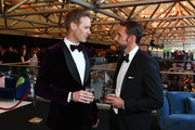 Gareth Southgate, Manager of England (R) mingles with journalist Dan Walker (L) ahead of the BT Sport Industry Awards 2019 at Battersea Evolution on April 25, 2019 in London, England. The BT Sport Industry Awards is the biggest commercial sports awards in the world and an annual showcase of the best of the sector's creative and commercial output. The event brings together sports stars, celebrities, industry leaders, influencers and media from around the world for what is always a highly anticipated occasion.