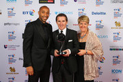 Clare Balding and Thierry Henry (L) pose with AP McCoy, winner of the Outstanding Contribution to Sport, sponsored by CWM Cyclong Promotions at the BT Sport Industry Awards 2015 at Battersea Evolution on April 30, 2015 in London, England. The BT Sport Industry Awards is the most prestigious commercial sports awards ceremony in Europe, where over 1750 of the industryÂ's key decision-makers mix with high profile sporting celebrities for the most important networking occasion in the sport business calendar.