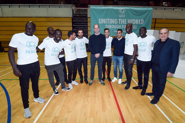 The Duke Of Cambridge Attends A Football For Peace Graduation Ceremony [sports,event,recreation,team,competition event,competition,prince william,footballers,peace\u00e2,young peace leaders from football,programme,cambridge,copper box arena,duke of cambridge attends a football for peace graduation ceremony,tm,graduation ceremony]