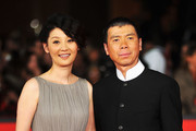 "Actress Xu Fan and director Feng Xiaogang attend the ""Back To 1942"" Premiere during the 7th Rome Film Festival at the Auditorium Parco Della Musica on November 11, 2012 in Rome, Italy."