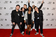 "(L-R) Dumbfoundead, Awkwafina, Lyricks, director Salima Koroma, Jaeki Cho, and Rekstizzy attend the ""Bad Rap"" Premiere during the 2016 Tribeca Film Festival at Chelsea Bow Tie Cinemas on April 16, 2016 in New York City."