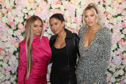 (L-R) Stephanie Princi, Barbie Blank, and Yris Palmer arrive at Baes And Bikinis Los Angeles Launch Party at Catch LA on November 19, 2019 in West Hollywood, California.