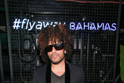 Musician Lenny Kravitz arrives at The Bahamas x Lenny Kravitz Fly Away Campaign Launch on February 7, 2019 in New York City.