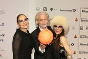 (L-R)  Ornella Muti, Hermann Buehlbecker and Naike Rivelli attend Ball des Sports 2019 Gala at RheinMain CongressCenter on February 02, 2019 in Wiesbaden, Germany.