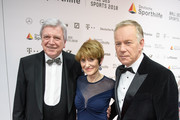 German State Premier for the state of Hesse, Volker Bouffier, his wife Ursula and Johannes B. Kerner (L-R) attend the the German Sports Gala ( Ball des Sports ) on February 3, 2018 in Wiesbaden, Germany.