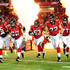 Tyson Clabo Photos - Members of the Atlanta Falcons offensive line (L-R) Garrett Reynolds #75, Todd McClure #62, Justin Blalock #63, Sam Baker #72, and Tyson Clabo #77 are introduced before the game against the Baltimore Ravens at the Georgia Dome on August 9, 2012 in Atlanta, Georgia - Baltimore Ravens v Atlanta Falcons