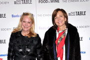 """(L-R) Nina Griscom and Frances Schultz attend Magnolia Pictures And Participant Media With The Cinema Society Present A Screening Of """"A Place At The Table"""" at MOMA - Celeste Bartos Theater on February 27, 2013 in New York City."""
