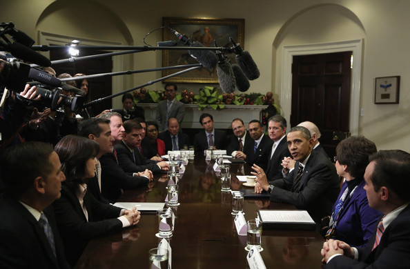 Barack Obama Meets with Newly Elected Mayors