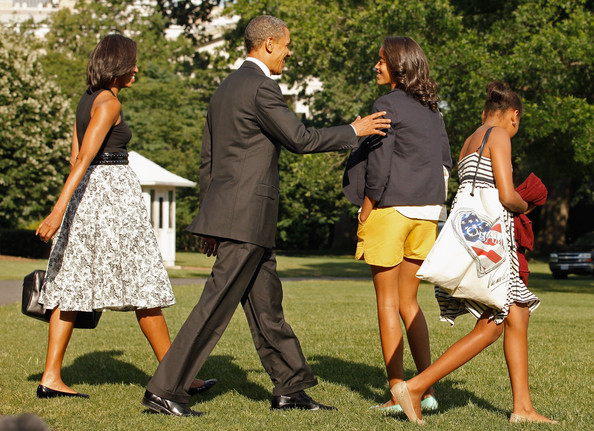 Barack Obama - The First Family Departs The White House For Chicago