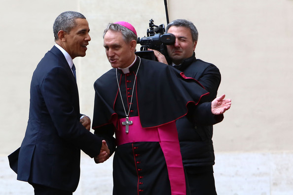 Pope Francis I Meets with Barack Obama