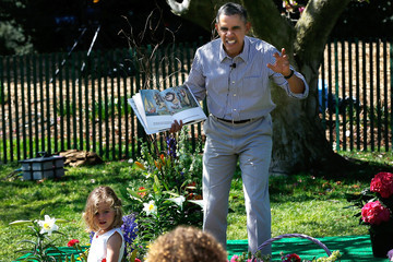 Barack Obama Annual White House Easter Egg Roll