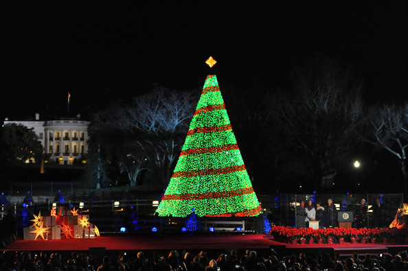 National Christmas Tree Lighting Ceremony - Barack Obama Photos Photos - National Christmas Tree Lighting
