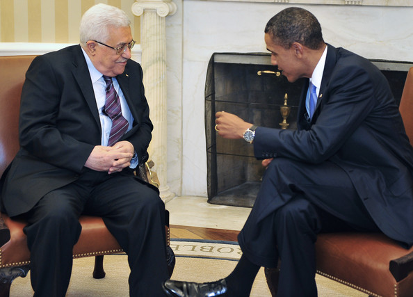 Barack Obama U.S. President Barack Obama (R) meets with Palestinian Authority President Mahmoud Abbas in the Oval Office of the White House September 1, 2010 in Washington, D.C. Obama will meet with Middle East leaders before the opening direct talks between Israel and the Palestinians scheduled to begin September 2, in the State Department.
