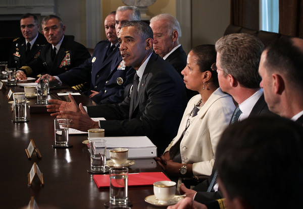 Barack Obama Photos Photos - President Obama Meets with Combatant ...