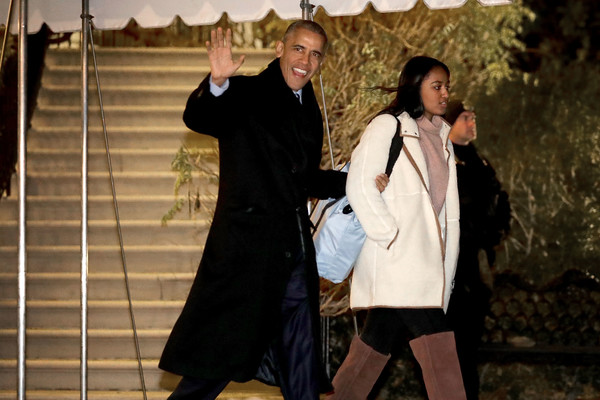 The First Family Departs From the White House for the Holidays in Hawaii