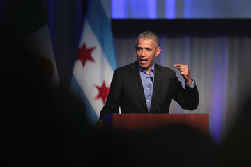 Barack Obama Chicago Hosts Mayors at North American Climate Summit