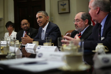 Barack Obama Obama Meets With Local Elected Officials And Small Business Exporters
