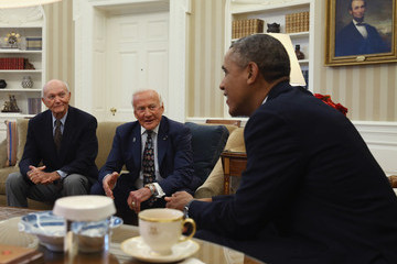 Barack Obama Barack Obama Meets with Apollo 11 Representatives