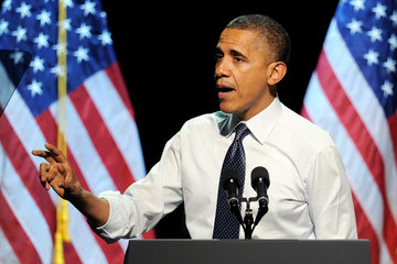 """Barack Obama Obama For America """"30 Days To Victory"""" Fundraising Concert In Los Angeles"""