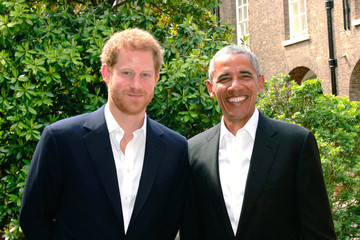 Barack Obama Prince Harry Meets Former US President Barack Obama