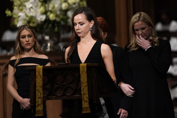Barbara Pierce Bush Family And Friends Attend A Funeral Service For Pres. George H.W. Bush In Houston
