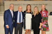 (L-R) Dr Steven J. Corwin, Ronald O. Perelman, Dr Holly Anderson, Barbra Streisand and Dr Noel Bairey visit the Ronald O. Perelman Heart Institute at New York Presbyterian Hospital on September 20, 2012 in New York City.