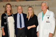 (L-R) Dr Holly Anderson, Ronald O. Perelman, Barbra Streisand and Dr Wayne Isom visit the Ronald O. Perelman Heart Institute at New York Presbyterian Hospital on September 20, 2012 in New York City.