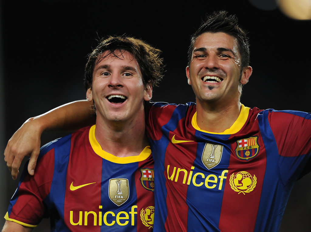 David Villa Messi David Villa Pictures