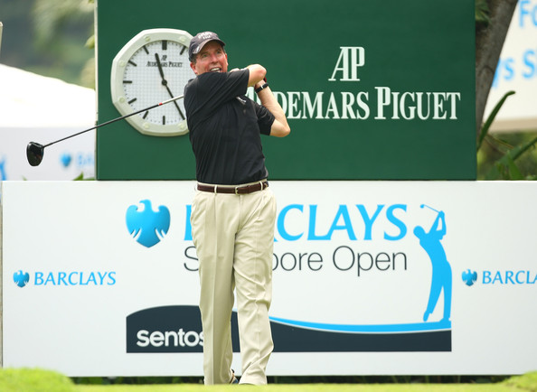 ... Barclays Singapore Open at Sentosa Golf Club on October 27, 2009 in