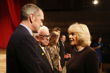 Barry Cryer The Prince of Wales & Duchess of Cornwall Visit Wilton's Music Hall