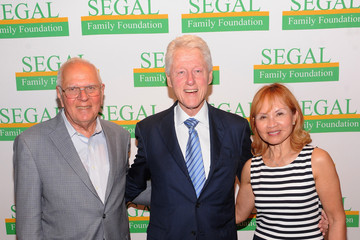 Barry Segal Bill Clinton Attends Segal Family Foundation Meeting