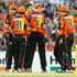 Sam Whiteman Jason Behrendorff Photos - The Perth Scorchers celebrate after taking the wicket of Travis Birt of the Hobart Hurricanes during the Big Bash League match between the Perth Scorchers and the Hobart Hurricanes at WACA on January 7, 2014 in Perth, Australia. - Scorchers v Hurricanes