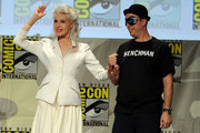 "Actress Julie Newmar (L) attends the ""Batman: The Complete Series"" DVD release presentation during Comic-Con International 2014 at the San Diego Convention Center on July 24, 2014 in San Diego, California."