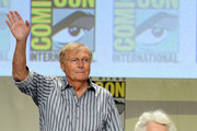 "Actors Adam West and Julie Newmar attend the ""Batman: The Complete Series"" DVD release presentation during Comic-Con International 2014 at the San Diego Convention Center on July 24, 2014 in San Diego, California."