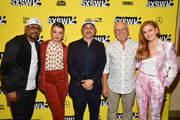 """Martin Lawrence, Stefania LaVie Owen, Harmony Korine, and Jimmy Buffett, and Isla Fisher attend the """"The Beach Bum"""" Premiere 2019 SXSW Conference and Festivals at Paramount Theatre on March 09, 2019 in Austin, Texas."""