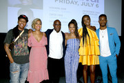 (L-R) Lena Waithe, Cori Murray, Barry Jenkins, Regina King, KiKi Layne and Stephan James attend 'If Beale Street Could Talk' Movie Cast and Filmmakers at Essence Festival 2018 on July 6, 2018 in New Orleans, Louisiana.