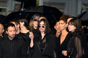Beatrice Dalle Anthony Vaccarello 'Lux Aeterna' Red Carpet - The 72nd Annual Cannes Film Festival