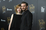 """Actor Dan Stevens and Susie Stevens attend the """"Beauty And The Beast"""" New York Screening at Alice Tully Hall at Lincoln Center on March 13, 2017 in New York City."""